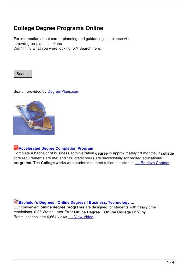 College Degree Programs Online