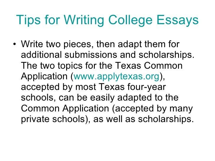 application college essay tip