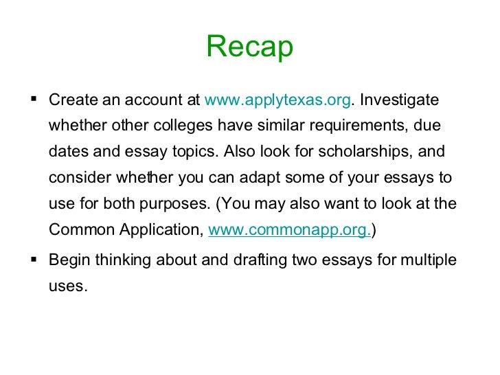 Topic Essay Examples
