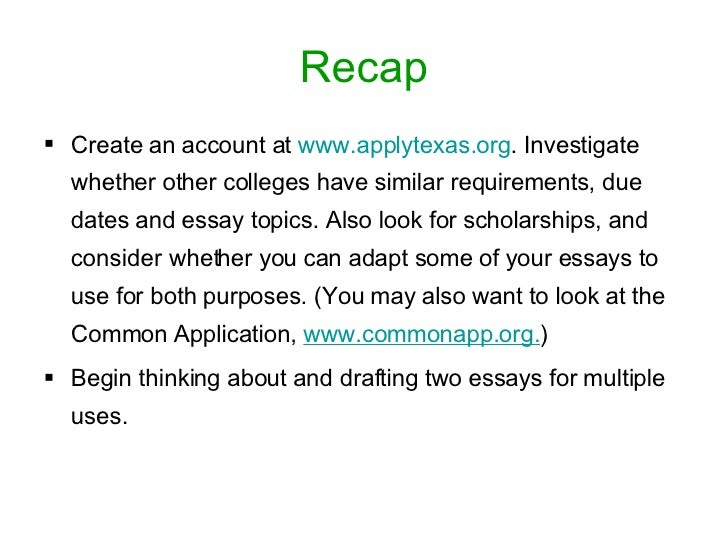 College essay conclusions applytexas