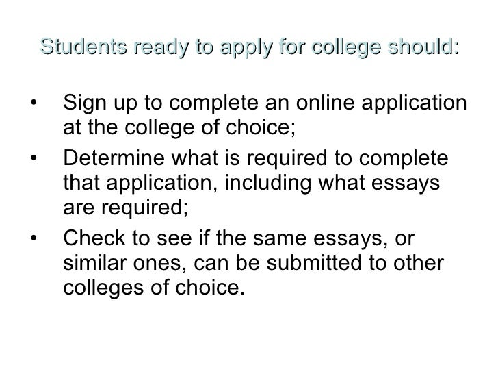 essay topics for college application
