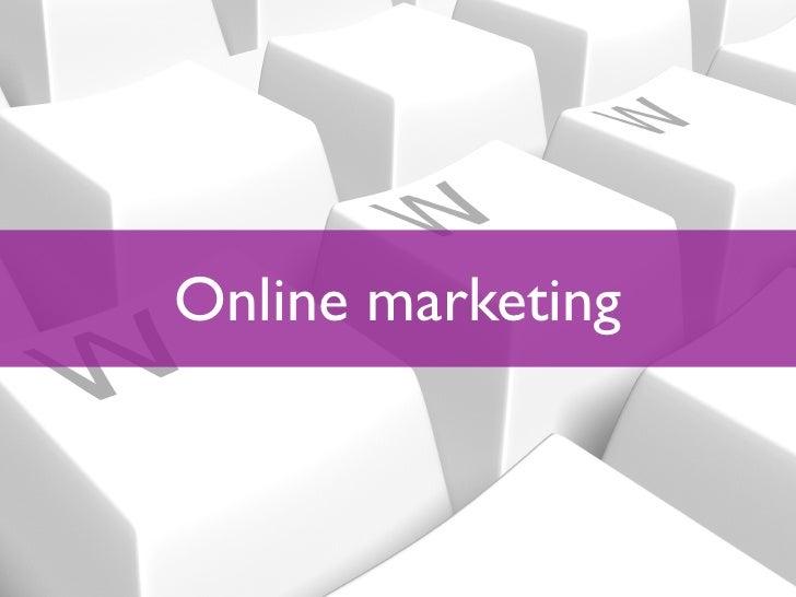 Inleiding Online Marketing