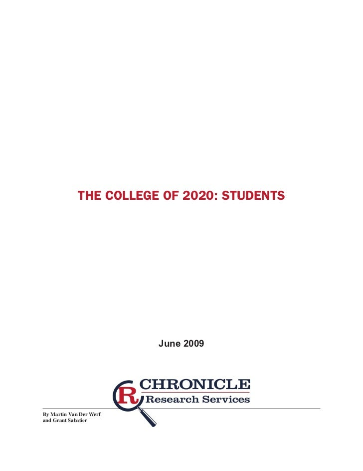 The College of 2020: Students