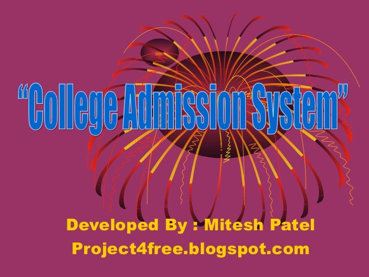 College admission management system