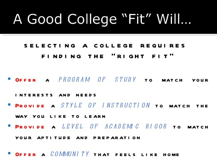 How to select subject for college admission essay