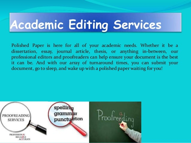 Editing services for college papers