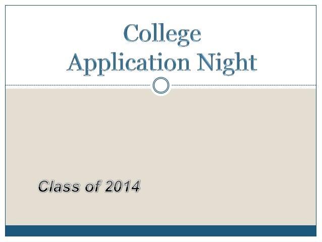 College application night 2013.parents.blog