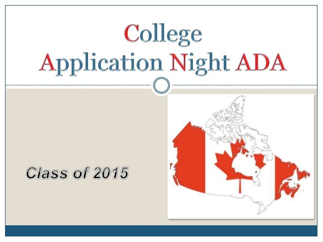 Senior College Application Night 2014.parents (Canada Only)