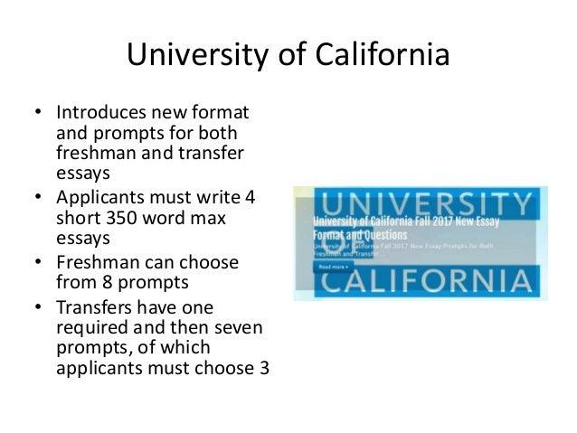 transfer essay format