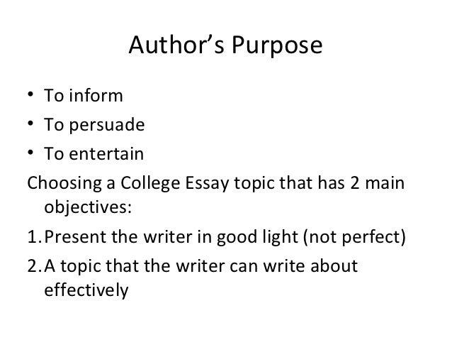 authors purpose essay example