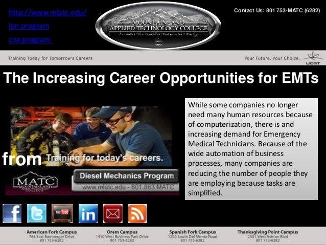 http://www.mlatc.edu/                Contact Us: 801 753-MATC (6282)lpn programcna programThe Increasing Career Opportunit...