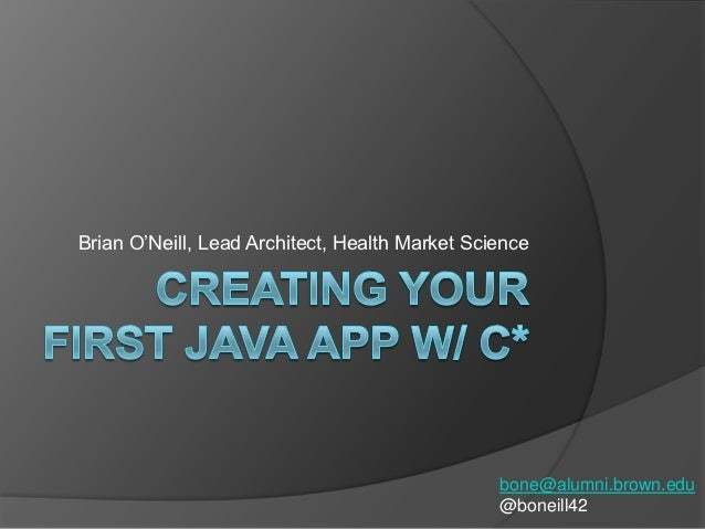 C*ollege Credit: Creating Your First App in Java with Cassandra