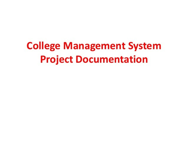 College Management System Project Documentation