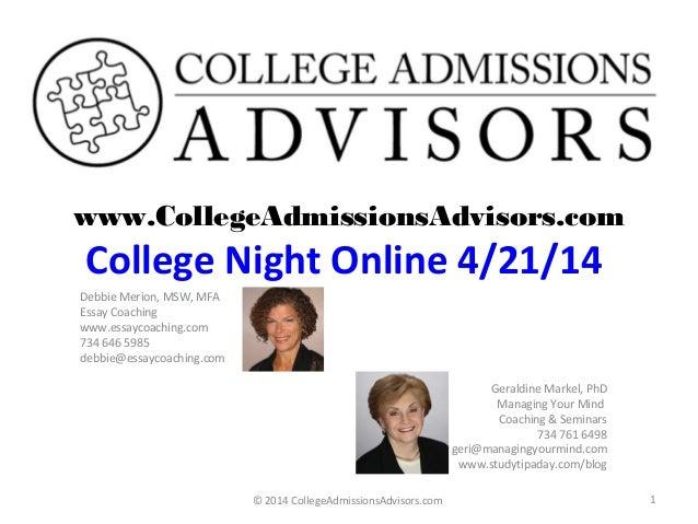 College night Online 4.21.14