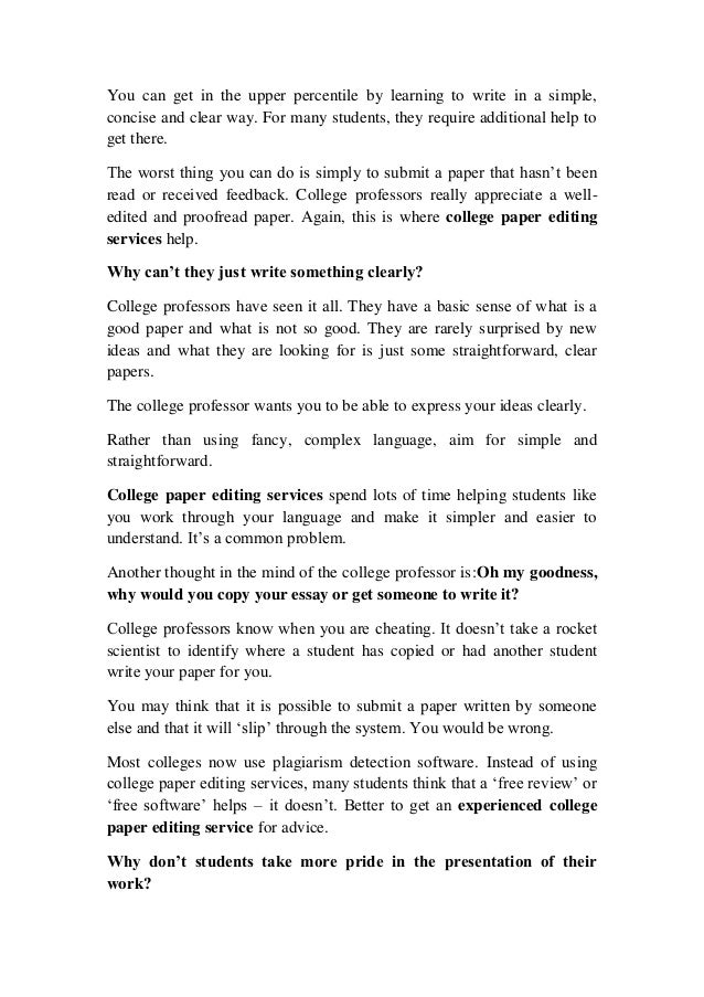 Best college application essay service editing