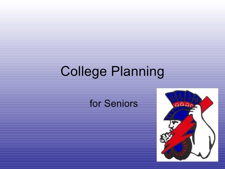 College Planning for Seniors