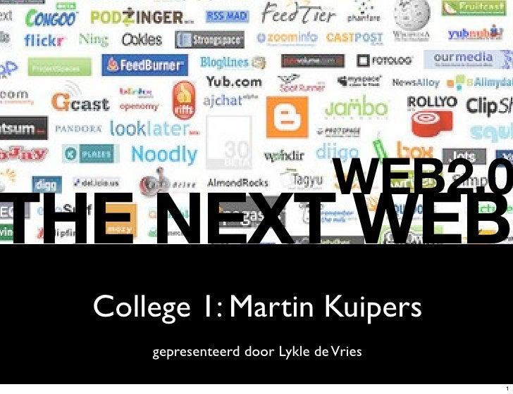 Collegereeks Web2.0 The Next Web, deel 1