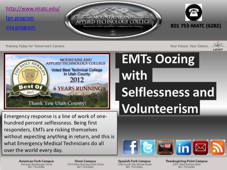 colleges in utah - EMTs Oozing with Selflessness and Volunteerism