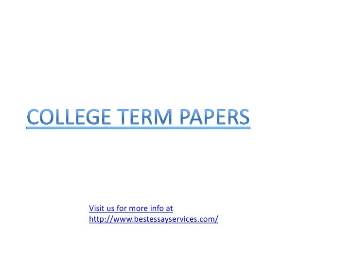 how to write College term papers