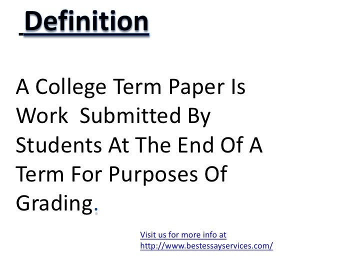 buy college term papers Let our essay writers help with developing a strong college level term paper on the topic of your choice to save you time and money pay at our service - invest in.