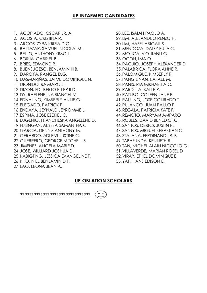 College test results b2012