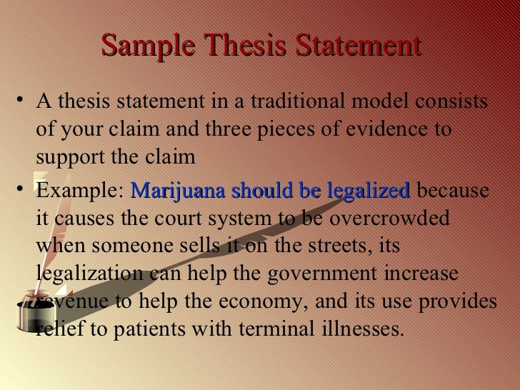 thesis statement about legalizing euthanasia Free essay: euthanasia: it is not murder, it is mercy thesis statement:  thousands of people in the united states alone die every year from terminal  illness.