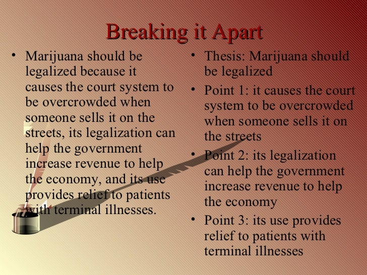 thesis statement for legalizing marijuana research paper