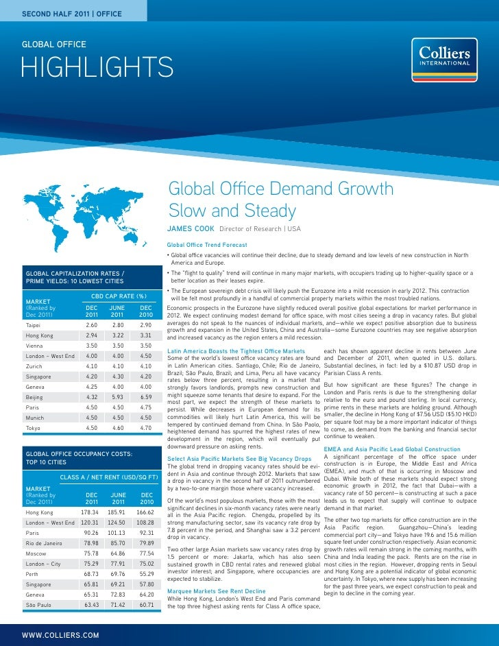 second half 2011 | officeGLOBAL officeHIGHLIGHTS                                                Global Office Demand Growt...