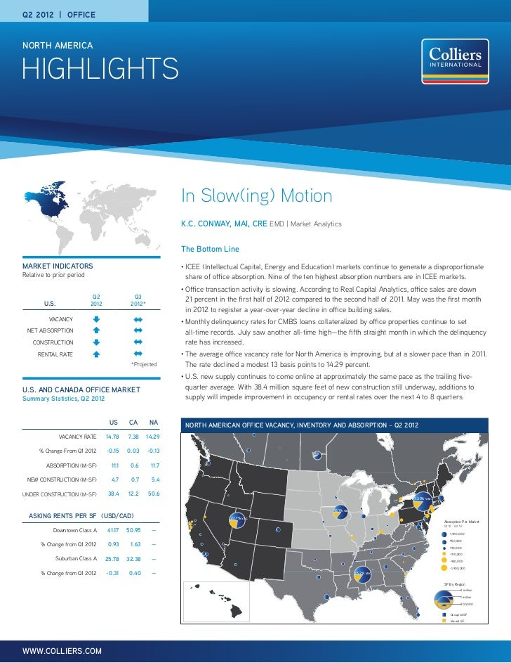 North American Office highlights 2Q 2012