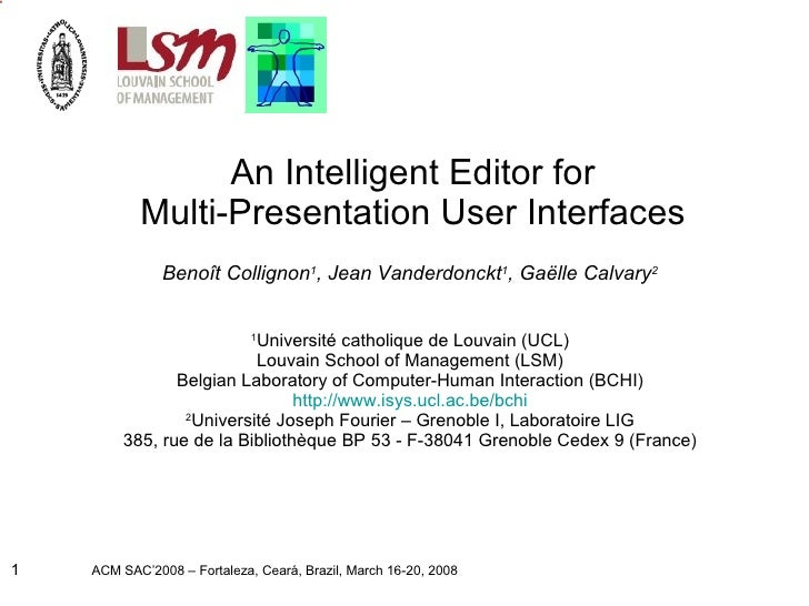 An Intelligent Editor for Multi-Presentation User Interfaces
