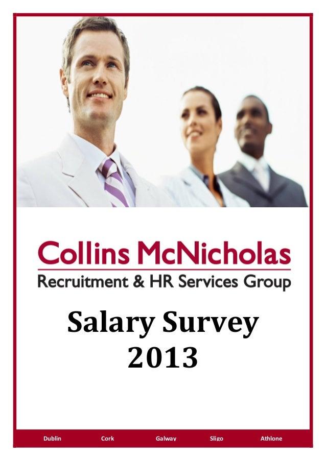 wwSalary Survey2013Dublin Cork Galway Sligo Athlone