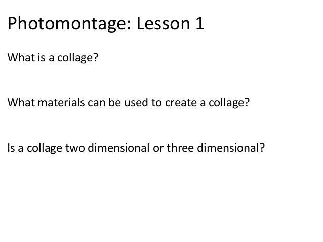 Colllage lesson 1.