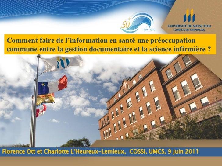 Information en santé, gestion  documentaire et science  infirmière_F_Ott_C_LHeureux