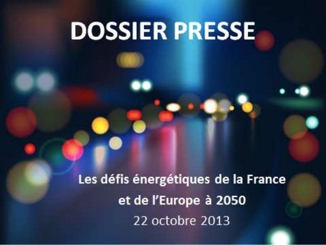 Colloque UFE - dossier presse 22 octobre 2013