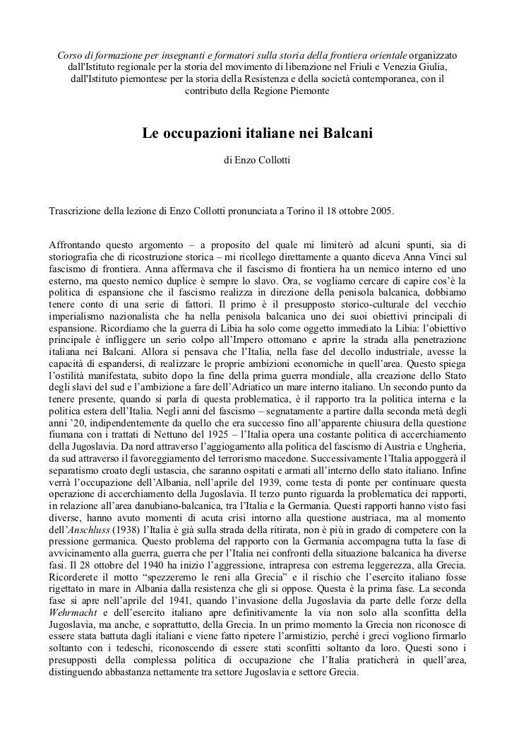 Le occupazioni italiane dei Balcani