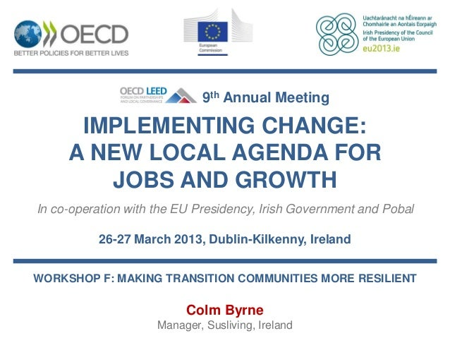 Colm Byrne -  Making shrinking communities more resilient
