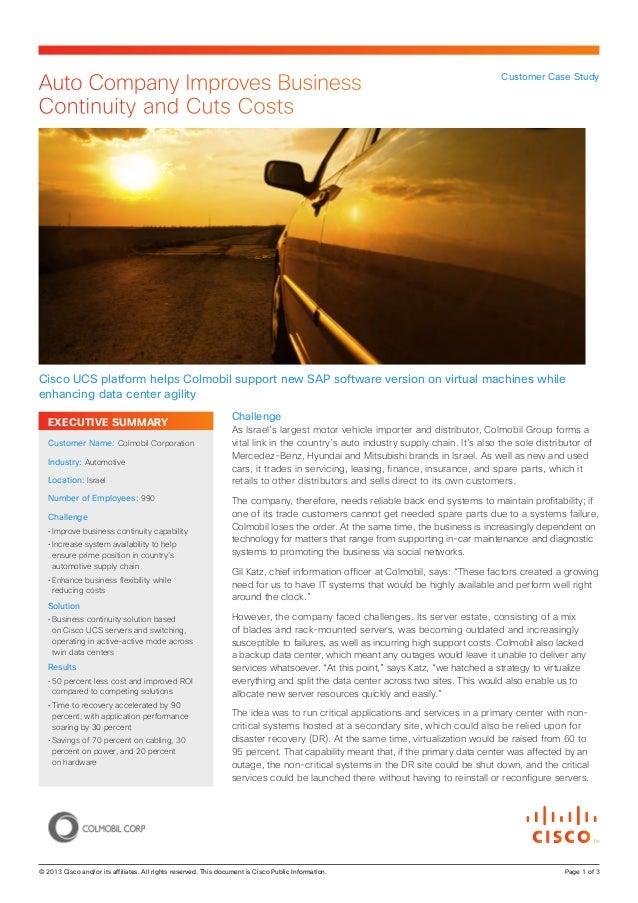 Colmobil case study