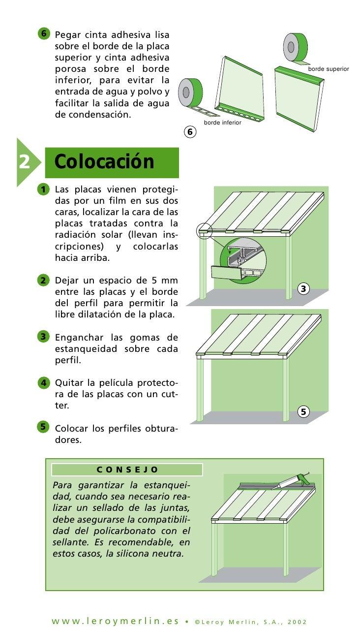 Colocacion de techos de policarbonato for Como encielar un techo