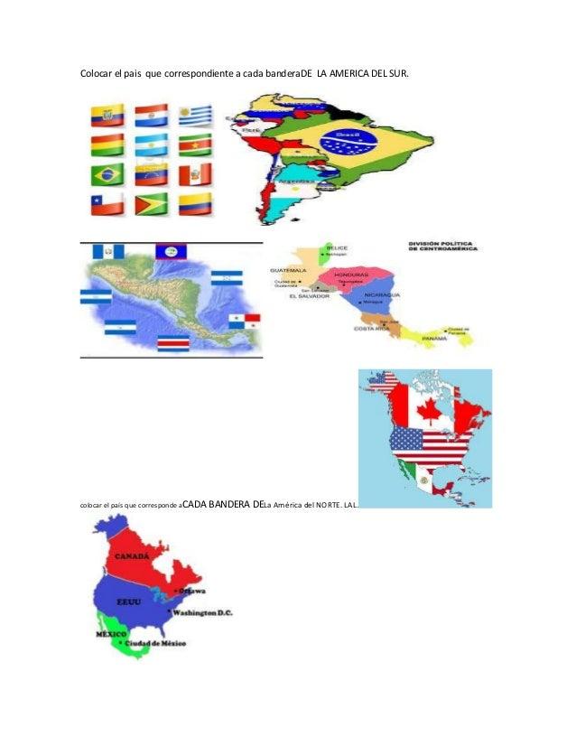 Colocar el pais correspondiente a cada bandera