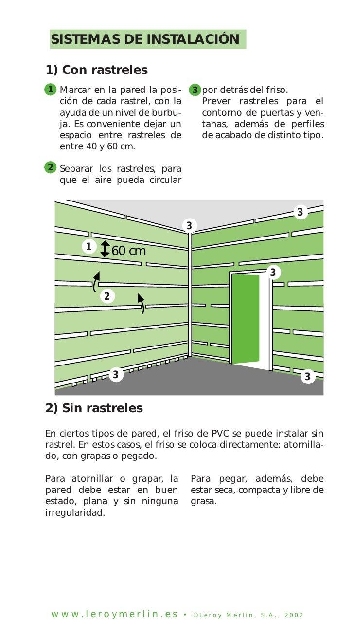Colocar planchas de pvc - Colocar friso en pared sin rastreles ...
