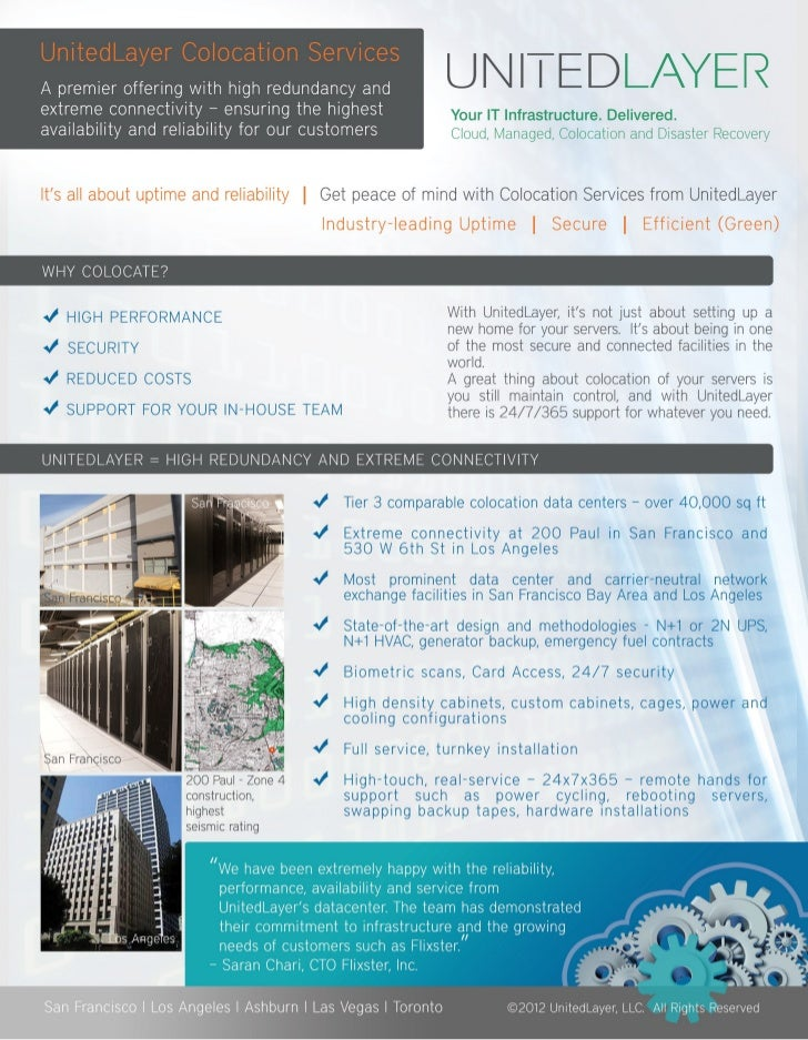 UnitedLayer Colocation Services, Data Center Facilities, Managed Network_San Francisco, Los Angeles