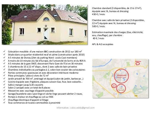  Colocation meublée d'une maison BBC construction de 2012 sur 180 m²  Située dans un quartier résidentiel neuf et calme ...