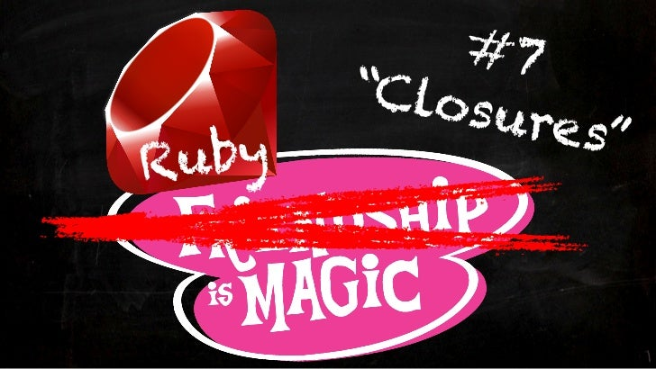 Ruby is Magic - Episode #7: Closures