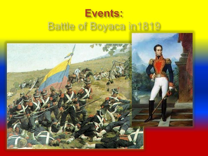 Battle of Boyaca Map Events:battle of Boyaca