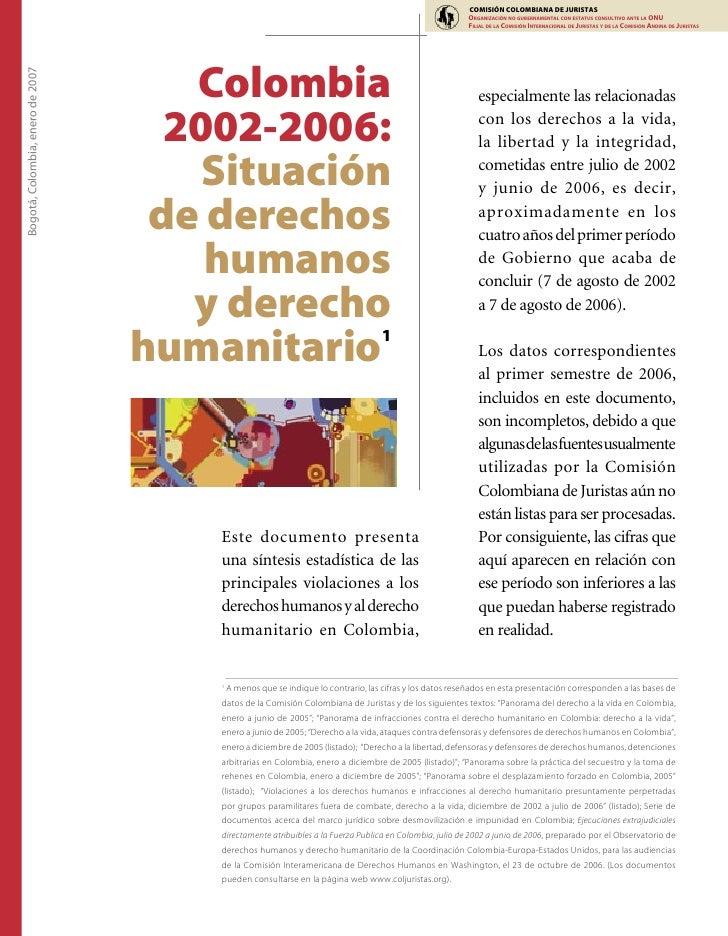 COMISIÓN COLOMBIANA DE JURISTAS                                                                                           ...
