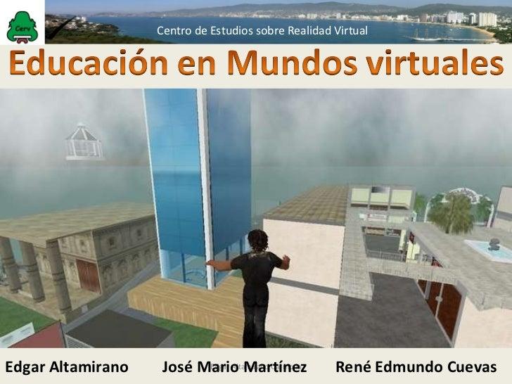 Educacion en mundos virtuales
