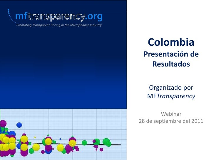 Promoting Transparent Pricing in the Microfinance Industry                                                                ...