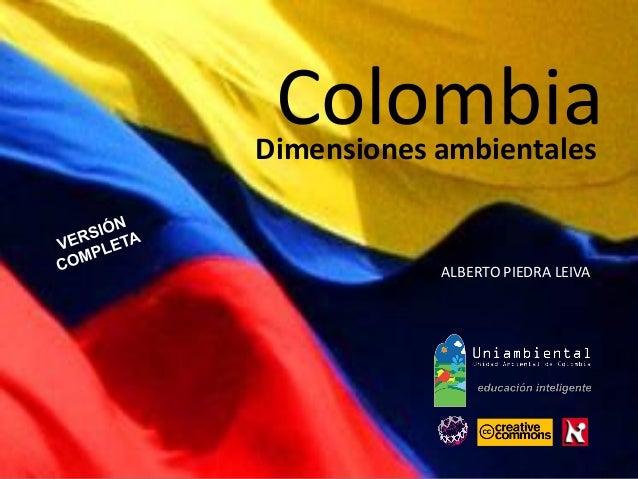 Colombia dimensiones ambientales