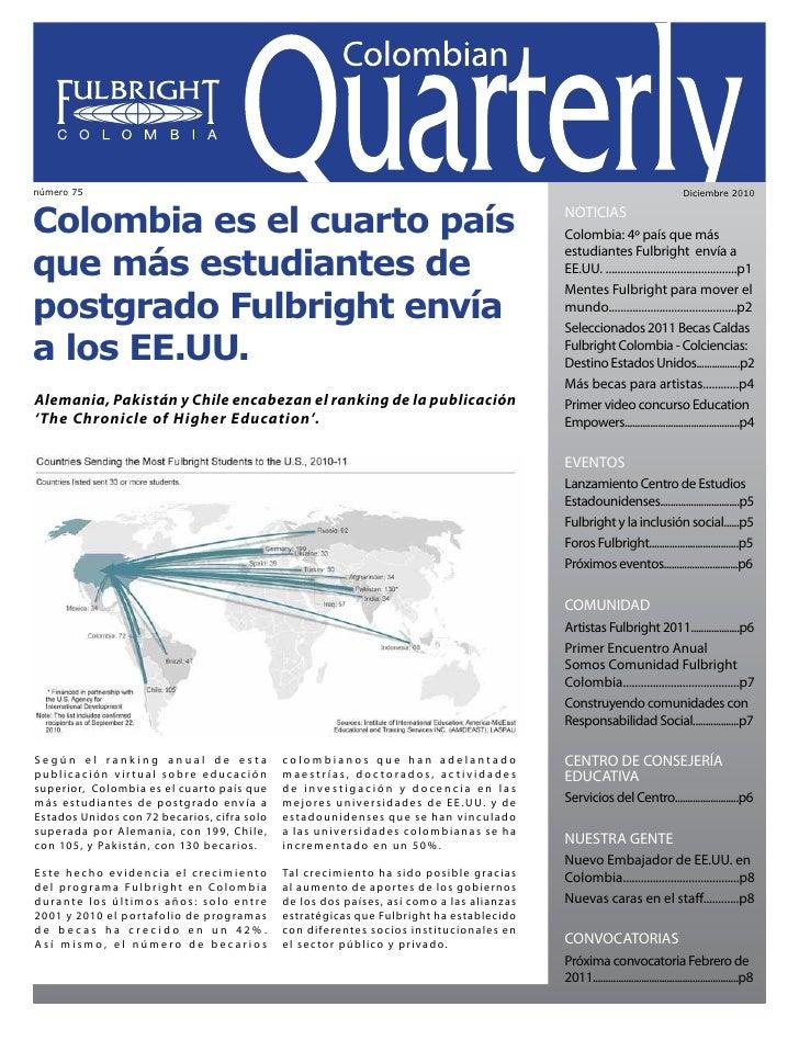 Colombian Quarterly • Diciembre // 2010                                                                                   ...