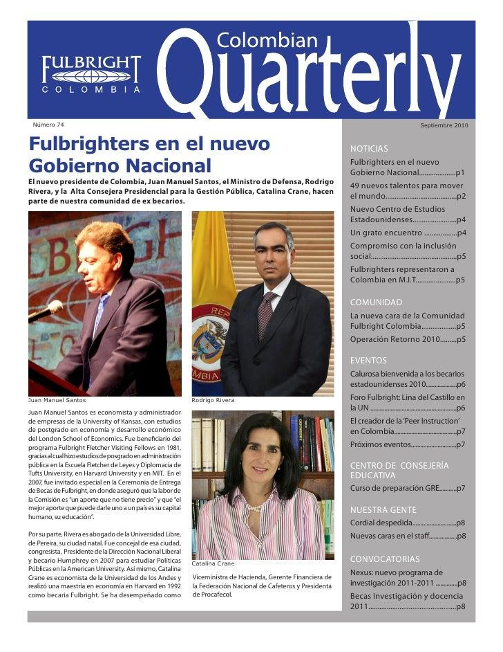 Colombian Quarterly • Septiembre // 2010                                                                                  ...